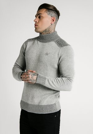 TURTLE NECK JUMPER - Strikpullover /Striktrøjer - light grey