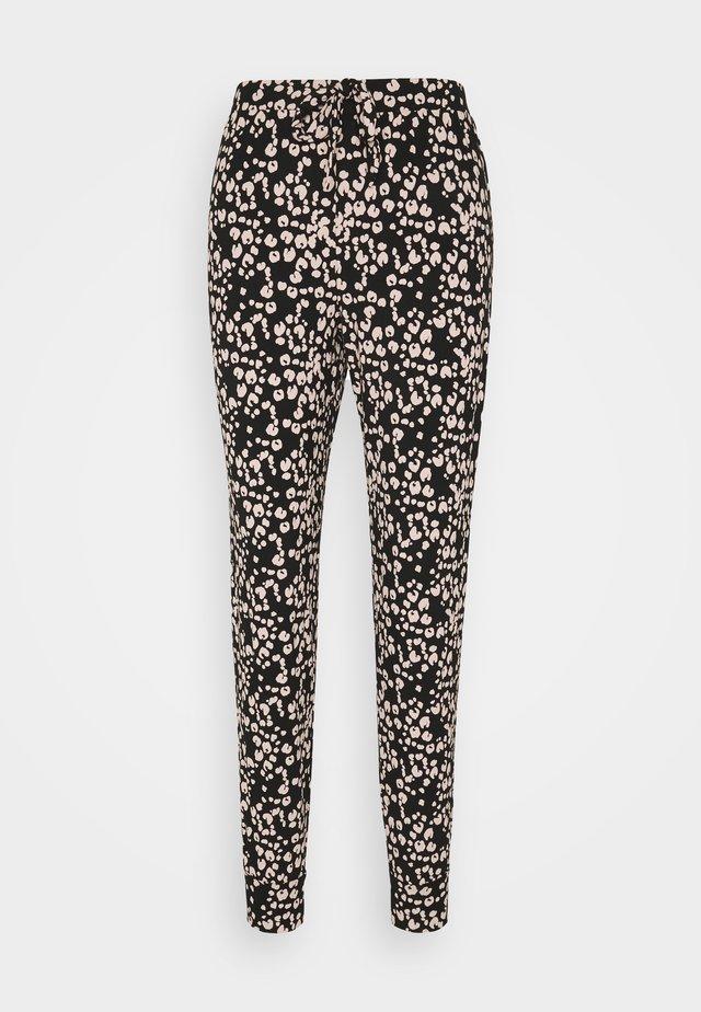 PANT PAINTED LEOPARD - Pyjamabroek - black