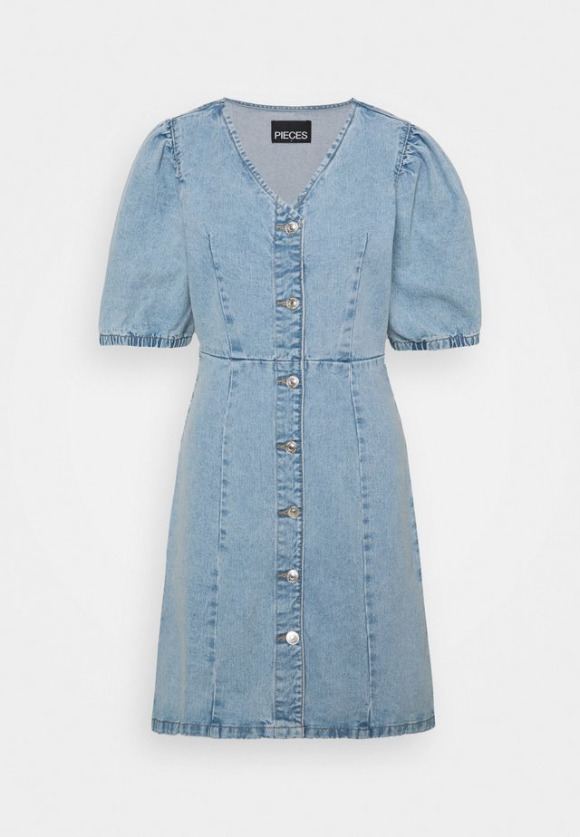 PCGILI - Sukienka jeansowa - light blue denim