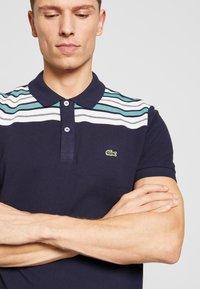 Lacoste - PH5101-00 - Polo shirt - navy blue/white/niagara blue - 3