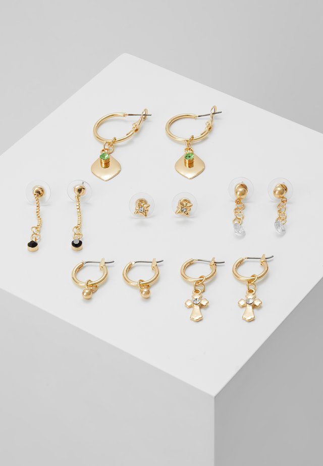 6 PACK - Earrings - gold-coloured