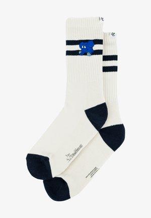 Socks - cream navy