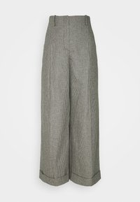 sandro - COUREY - Trousers - noir / blanc - 0