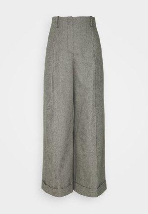 COUREY - Trousers - noir / blanc