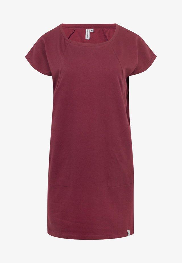 Jersey dress - windsor wine