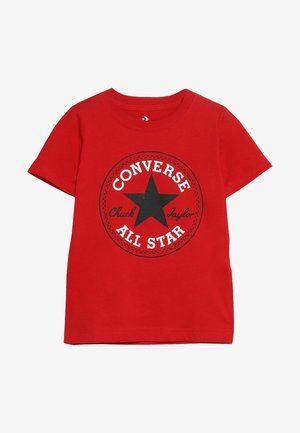 CORE CHUCK PATCH TEE  - Triko s potiskem - enamel red