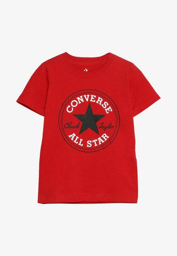 CORE CHUCK PATCH TEE  - Print T-shirt - enamel red
