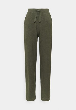 EDITHA PANTS - Trousers - army green melange