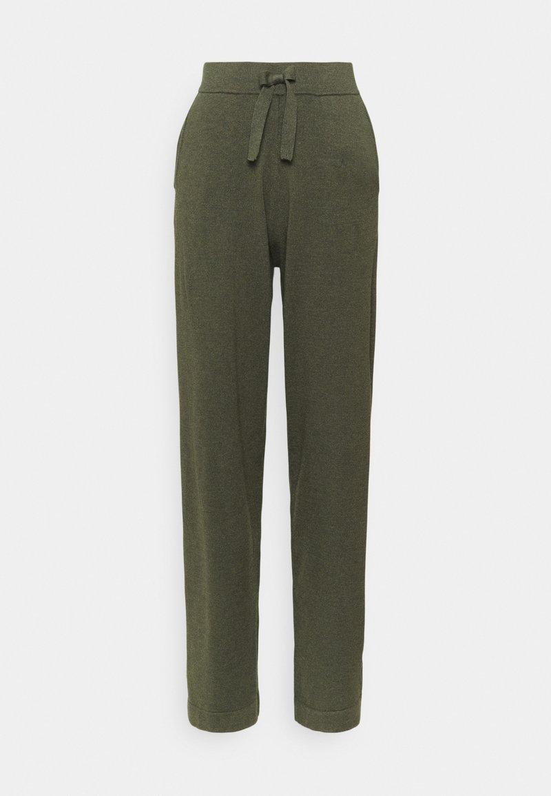 Saint Tropez - EDITHA PANTS - Trousers - army green melange