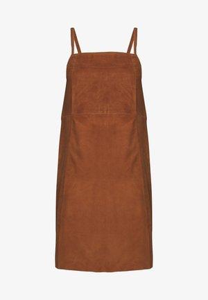 SUEDE DRESS - Day dress - sugar almond