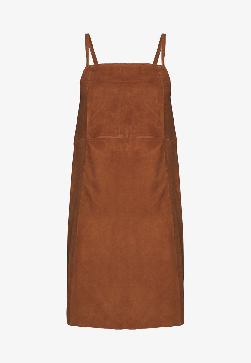 Object - SUEDE DRESS - Day dress - sugar almond