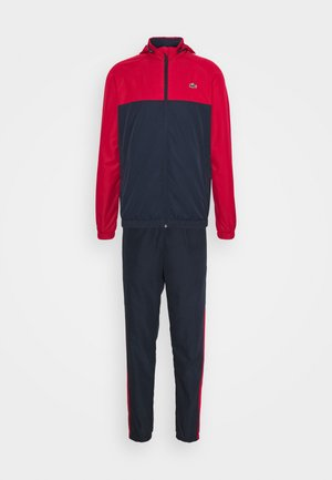 TRACK SUIT - Tracksuit - navy blue/ruby/white