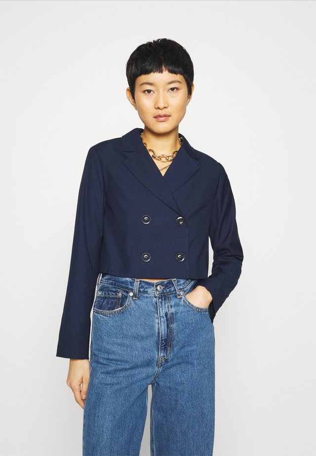 CROPPED JACKET - Blazer - true navy