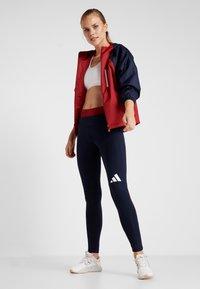 adidas Performance - Sportovní bunda - maroon/legend ink/white - 1