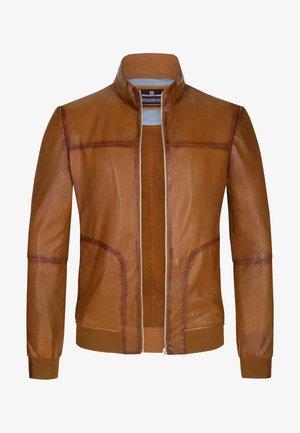 Leather jacket - terracotta