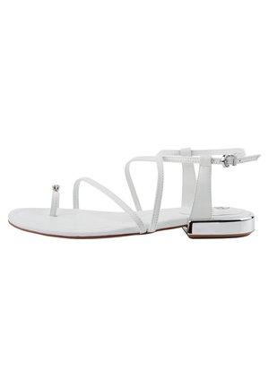 MIT RIEMCHEN - T-bar sandals - weiß