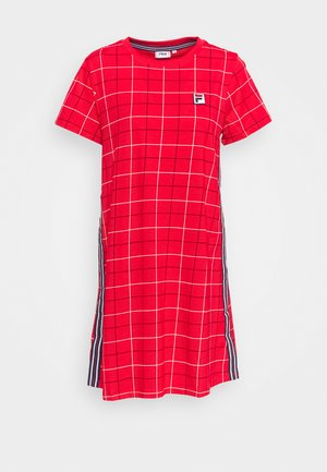 WINONA AOP TEE DRESS - Sukienka koszulowa - true red