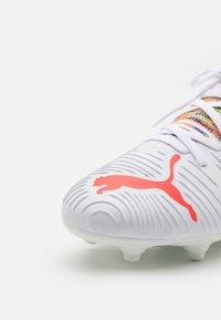 Puma - FUTURE Z 3.1 FG/AG JR UNISEX - Moulded stud football boots - white/red blast - 5