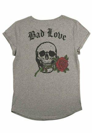 BADLOVE - T-shirt print - mottled grey