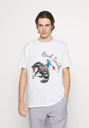 COWBOY PRINT UNISEX - Print T-shirt - white