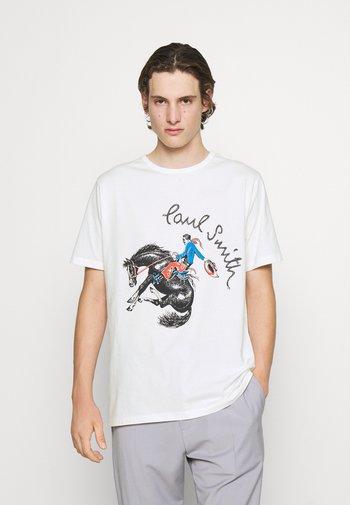 COWBOY PRINT UNISEX - T-shirt z nadrukiem - white