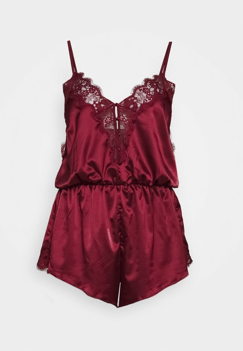 City Chic - STELLA PLAYSUIT - Pyjamas - burgundy