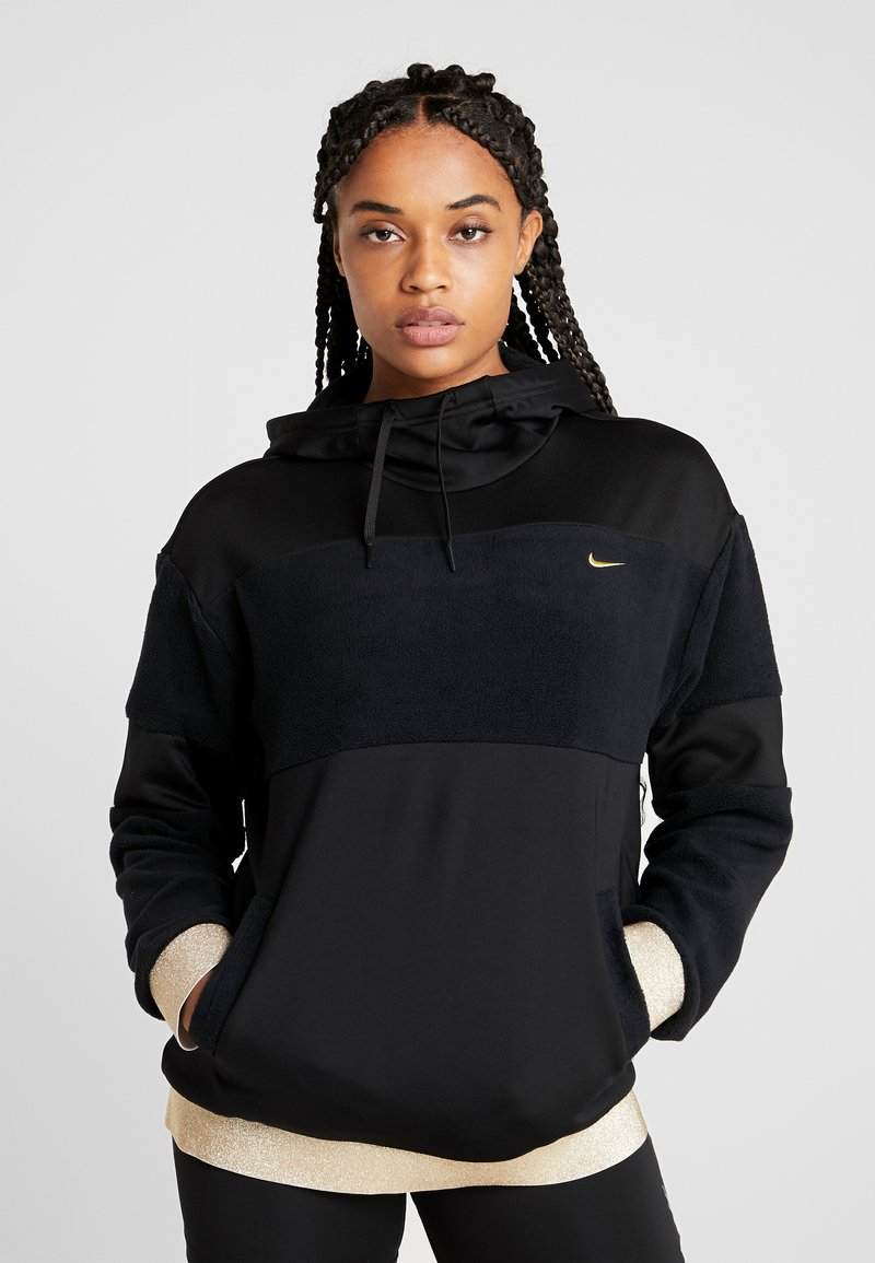 Nike Performance - ICON - Jersey con capucha - black/metallic gold