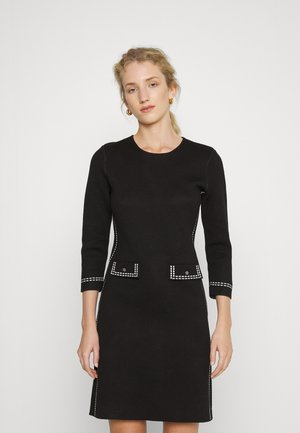 ELBOW SLEEVE SHEATH - Jumper dress - black/ivory