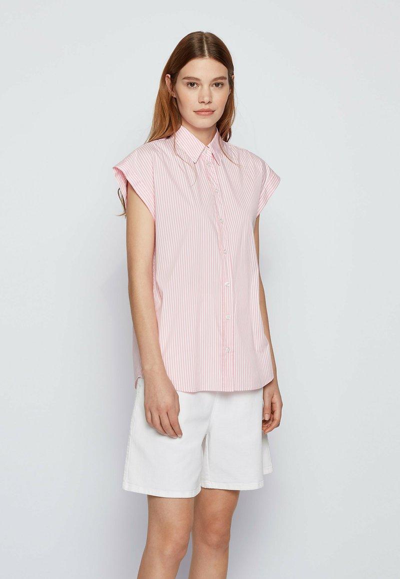 BOSS - BEMIRTA - Button-down blouse - pink