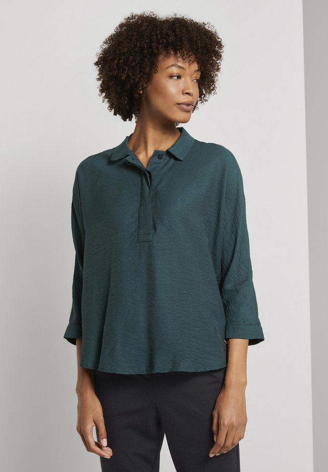 MIT FLEDERMAUSÄRME - Blouse - deep green lake