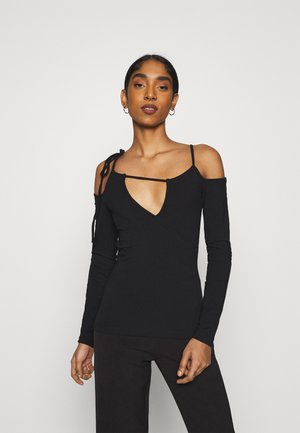 ZIA LONG SLEEVE - Long sleeved top - black