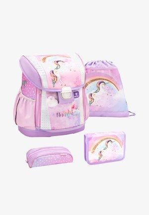 SET 4 PIECES - School set - lilac/white