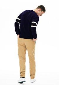 Lacoste - AH8544 - Sweatshirt - navy blue/black/white/yellow - 1