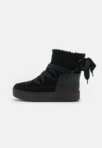 CHARLEE - Platform ankle boots - black