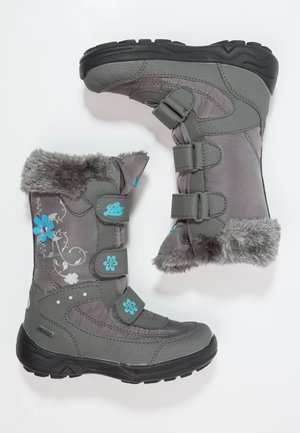 MARY  - Winter boots - grau/türkis