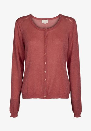 NEW LAURA - Cardigan - mineral red lurex