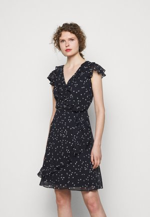 PRINTED DRESS - Day dress - light navy/colonial
