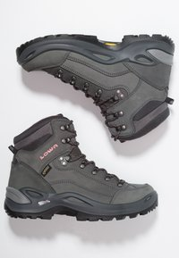 Lowa - RENEGADE GTX MID - Hiking shoes - graphite/rosé - 1