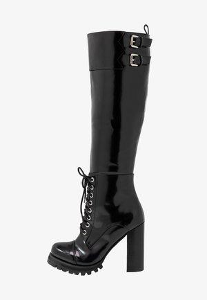 High Heel Stiefel - black box