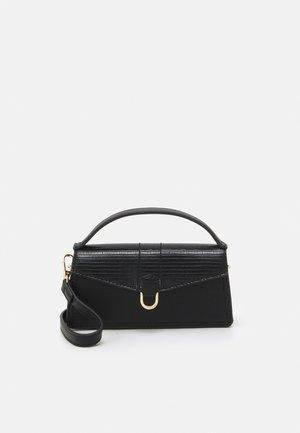 STRUCTURED SADDLE BAG - Handbag - black