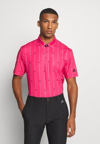adidas Golf - ULTIMATE SPORTS GOLF SHORT SLEEVE - Funkční triko - power pink/black/grey two - 0