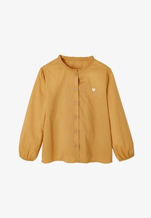 POPELINE - Button-down blouse - gelb