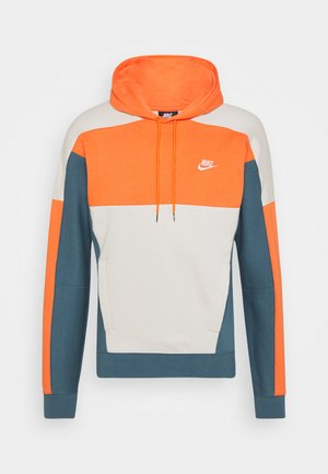 HOODIE - Hoodie - electro orange/ash green/light bone/white