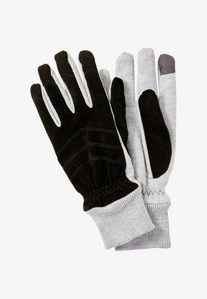 Gloves - light soft grey melange