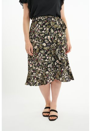 A-line skirt - multi neutral