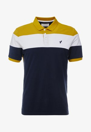 Polo shirt - dark blue/mustard