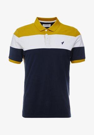 Poloshirt - dark blue/mustard