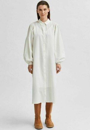 Lang strukturiert - Shirt dress - snow white
