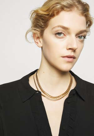 LAYERED CHAIN NECKLACE - Náhrdelník - gold-coloured
