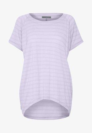 ELOWEN CREWE - Print T-shirt - mercury